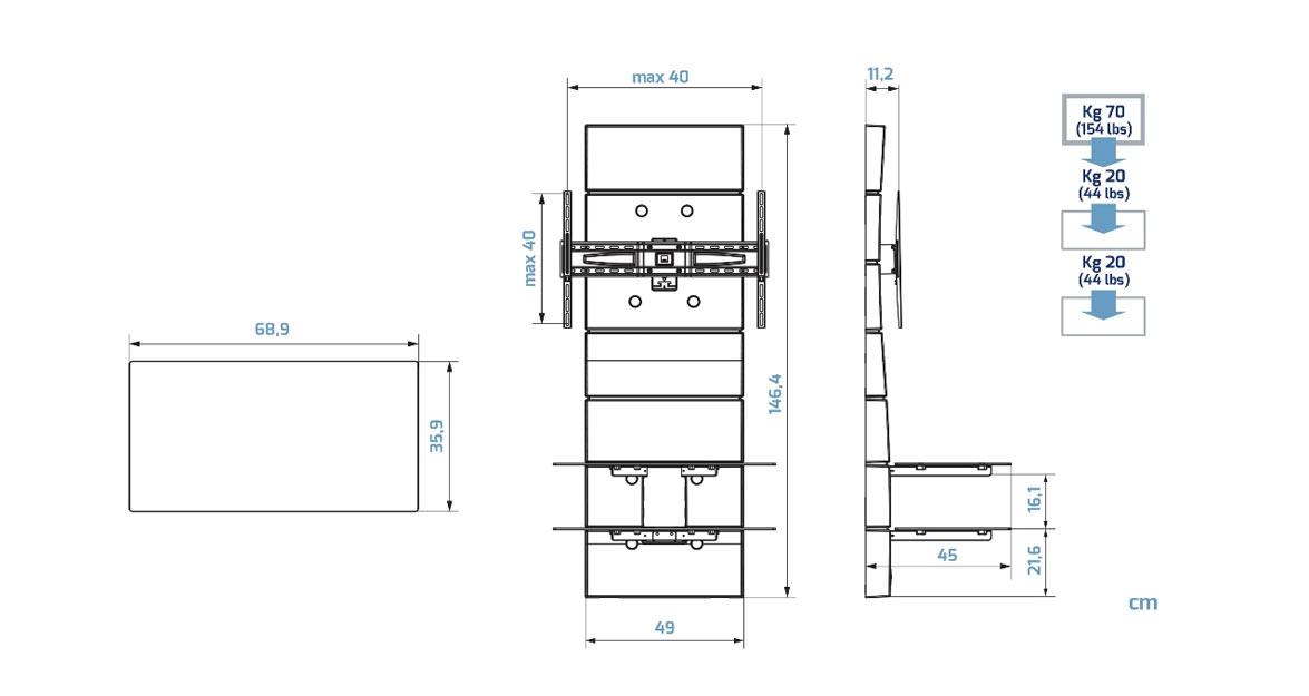 p ka pod tv z maskownic ghost design 3000 sklep. Black Bedroom Furniture Sets. Home Design Ideas